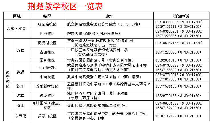 荆楚(jc)2014年新八年级数学暑假授课时间安排表